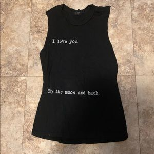 Tops - I love you to the moon and back shirt tank